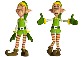 Christmas Elf PNG Stock by Roy3D