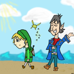 Linebeck and Link by Sk8rcat