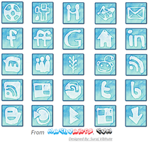 Cloudy Social Media icon set by suraj78