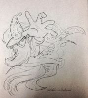 (Sketch) Traveler in Time - Star Swirl the Bearded by RedApropos