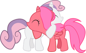 Cherry Belle - Foalsized Pony Hug by Creshosk