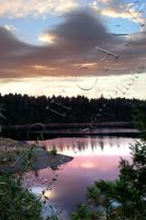 Lake On Fire by MadDragonPhoto