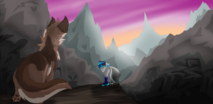 Mountain Path [Art Trade] by Waterbender-Jay
