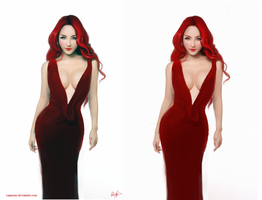 Evelynne - original character- 2 versions by Yannomi