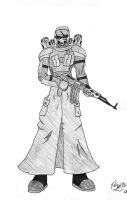 Post-Apocalyptic  Soldier by Gee-Man