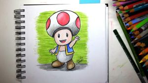 Toad from Super Mario by TaliShemes