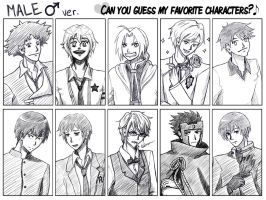 Fave Characters Meme - Male by Noidatron