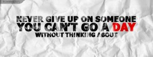 Never Give Up by zeidroid