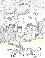 Warrior Cats drawing. by rey1119