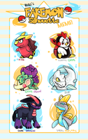 Fakemon Silhouette Filled by MagicBunnyArt