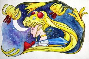 Sailor Moon thoughts of infinity by IslaAntonello