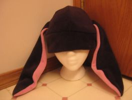 Black Bunny Hat by kittyhats