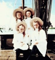 Tsar's Daughters On Board by DelicateFlowers