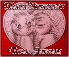 Happy Birthday Miriam by kot-k