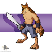 Wolf Sentry (Sword) by FreezingIceKirby