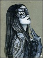 Midnight Masquerade - portrait by RossanaCastellino