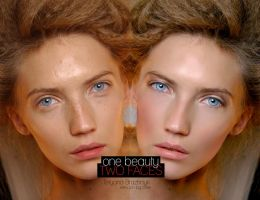 One beauty, two faces by monxcheri