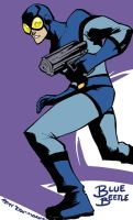 Ted Kord, the Blue Beetle by eisu