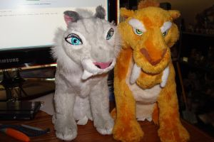 Shira and Diego from ice age 4 continental drift. by Vesperwolfy87