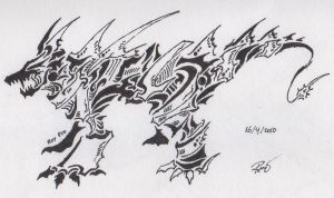 Tribal Dragon 9 or Tribal dog by RoyCorleone