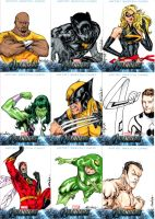 Avengers sketchcards set 3 by SpiderGuile