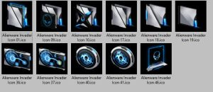 Alienware Invader Icons  Small Sample Package by E-MC-2