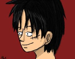 Luffy face by AlphonseElric411