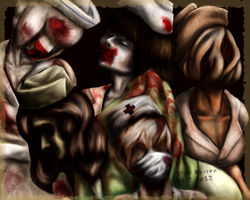 Silent Hill Nurses by Pozem