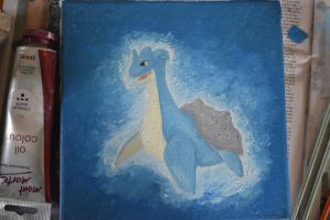 Lapras Oil Paint on Canvas by aoshen