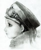 pilot girl sketch by rabbiteyes