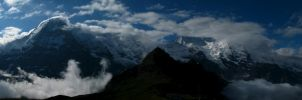 Eiger, Monch, Jungfraujoch by UkoDragon