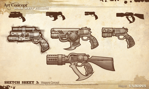 WILD WEST EXODUS WEAPON CONCEPTS by PixelEffigy