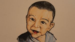 Baby Boy painting by CJJennings