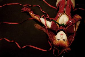 Asuka Langley : Red Ribbon by pinkyluxun
