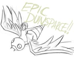 Epic Dunsparce.... with Fasen by AzureChromatic