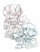 Prime and Megatron by dGREAT1