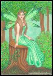 The Green Faery by blue-willow