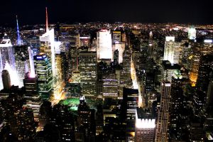 NYC at Night Bright by NeverLandExile