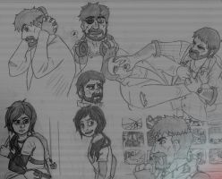 Old TLoU Sketches by EternASH