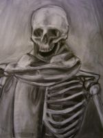 Skull and Scarf by TonyTheZ