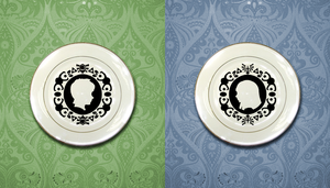 LOZ SS Zelda and Link Plates by Enlightenup23