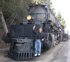 Standing on Big Boy 4014 by rlkitterman