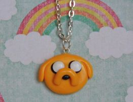 Jake the Dog Adventure Time Necklace by CharmingLittleFox