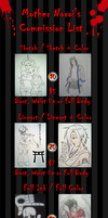 Commission List -UPDATE- by mother-noroi
