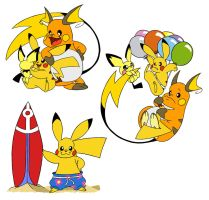 Pikachu Family - Caricature 2 by Jackster3000