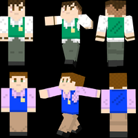 Minecraft Skins: Bully- Gary and Pete by TheCouscousAssassin