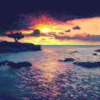 Sunset in Hawaii - photo study by kmink