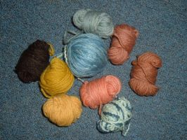 Dyed Yarns by Panther-Nora