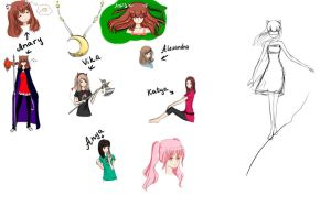 sketches by Anary