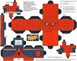 Retro3: Spider-Man Cubee by TheFlyingDachshund